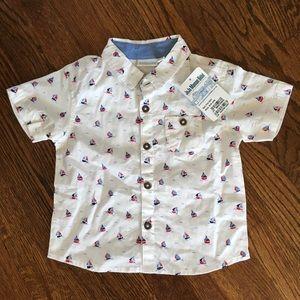 Jojo Maman Bebe Sailboat Collared Shirt 18-24 mos